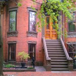Classic Boston Victorian Bow Front Townhouse