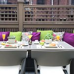 We offer several outdoor spaces for guests to enjoy including our breakfast patio.