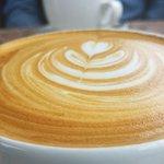 Beautiful hazelnut latte