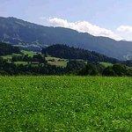 Von der Südseite ein Blick auf die Bregenzer-Bergwelt
