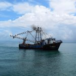 connecting with the fishing boat