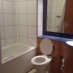 Room 302 bathroom - small but adequate
