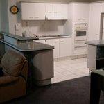 Spacious kitchen/living
