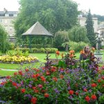 Bandstand and flower beds