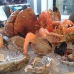 Plateau de fruits de mer avec tourteau