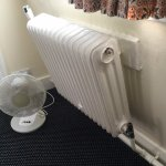 Even old school rads to match the sash Windows. Yeah it is at an angle also!