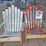 Adirondack chairs made from skis