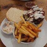 Triple Meat Treat burger