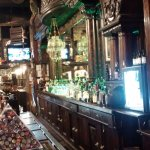 View of the amazing carved bar