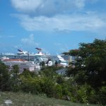 View of the cruise ships from here!