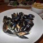 fresh local mussels with home made chips