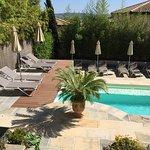 The 'top deck' sunbathing terrace