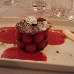 Dessert mille-feuille de framboises