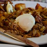 This was my wife's Pulled Pork Hash & Eggs. Menu item: Hog Park Hash