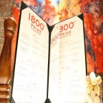 Our larger than life menu with definitely have you excited to order.