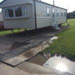 Waterlogged caravan