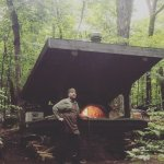 The man built his pizza oven...