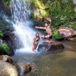 uma das cachoeiras.