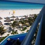 Vista de la playa desde la habitación con vista al mar
