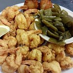 20 Piece fried shrimp with green beans