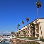 Hotel with Harbor Walkway