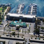 Aerial View of Hotel and Harbor