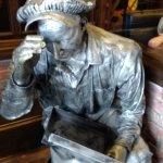 Metal statue in foyer Industrial Revolution