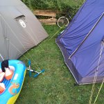 Crowded, busy and no privacy. More tents=more money