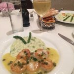 The Asparagus Risotto with Shrimp and Capers...