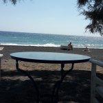 Breakfast table on beach