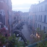 Misty Venice morning from the terrace at Residenza de L'Osmarin