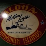 Old Matson Line sign at entrance of restaurant