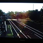 This is the view of the real train action on the room TV. It is great!!