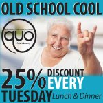 Pensioners get 25% OFF their bill EVERY Tuesdays... strictly over 60's