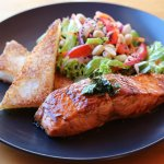 Great cafe food - teriyaki salmon