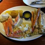Snow & King Crab with lobster alfredo