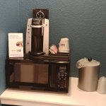 Coffee Station with Microwave-Fridge below