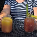Blood orange mimosa and bloody mary
