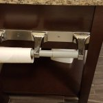 most hotels make sure there are rolls on both the holders