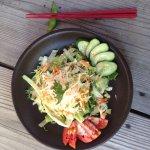 yummy big salad- was cheap too