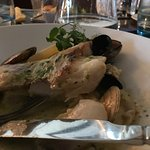 Roasted cod on a truffle mash: delicious