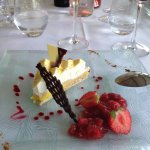This was the fish course and the dessert, delicious!!!