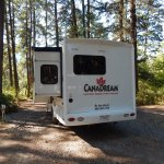 Unser Platz auf dem Campground