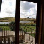 View over lochan from guest lounge