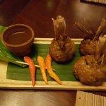 Deep-fried stuffed lemongrass with minced pork