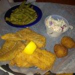 My wife's haddock dinner