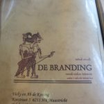 Address page of restaurant De Branding in Maastricht (NL)