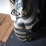 Garden room guard cat