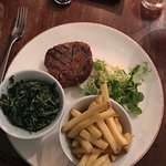 Rib-eye Steak with Creamed Spinach