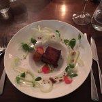 Pork Belly, Crispy Ham Hock and Waldorf salad